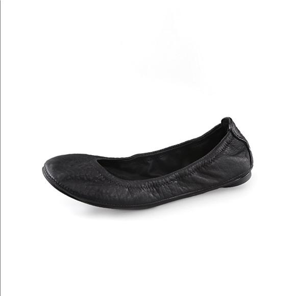 49ab1c6c5 Tory Burch Eddie Ballet Flat Black Pebbled Leather.  M_5c42cc683e0caaf2c2924cec